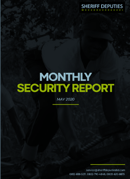 Sheriff Deputies Monthly Security Report (May 2020)