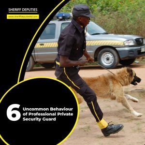 6 Uncommon Behaviours of Professional Private Security Guards